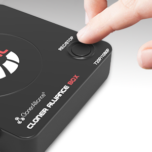 A built-in record button makes it easy to record your video/gameplay.
